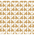 gold vintage peace dove seamless pattern vector image