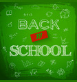 green back to school background vector image