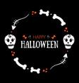 halloween greeting card round frame vector image vector image