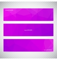Horizontal Set of Banners with violet Background