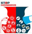 icon covid19 19 virus coronavirus vector image vector image