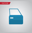 isolated door flat icon automobile part vector image vector image