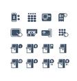 Kiosk terminal service info icons vector image vector image