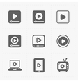 Modern flat video player icons vector image vector image