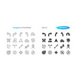 navigation ui pixel perfect well-crafted vector image