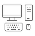 pc thin line icon technology and computer vector image