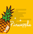 pineapple fruit delicious shiny poster vector image vector image