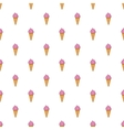 Pink ice cream in a waffle cone pattern vector image