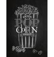 Poster popcorn sweet chalk vector image vector image
