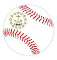 rhode island flag baseball vector image vector image