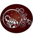 scorpio zodiac sign in circle frame vector image vector image