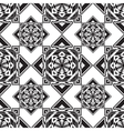 seamless monochrome ornament squares vector image vector image
