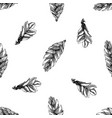 seamless pattern with black and white bromeliad vector image vector image