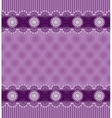 Seamless purple background with lace border vector image vector image