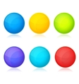 set colorful balls on white background vector image vector image