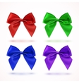 Set of four colorful bows vector image vector image