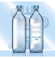 set of transparent plastic blue liquid vector image vector image