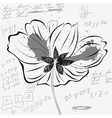 sketch wih flower and number vector image vector image