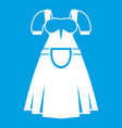 traditional bavarian dress icon white vector image vector image
