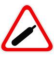 triangular yellow warning hazard symbol vector image vector image