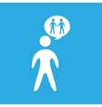 two silhouette persons standing vector image
