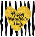 valentines day handwritten card vector image vector image