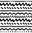 wavy zig zag curly lines seamless pattern vector image vector image