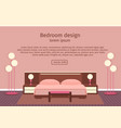 web design banner of elegance bedroom interior vector image vector image