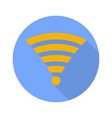 Wi fi symbol on white background