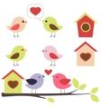 birds in love set vector image