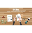mba master of business administration with vector image
