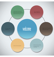 Paper circles can be used for web design and vector image
