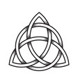 triquetra or trinity knot hand drawn dot work vector image