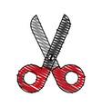 colorful scissors cartoon vector image