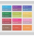 Flat user interface buttons vector image