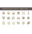 20200125 coronavirus icon red vector image