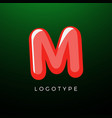 3d playful letter m kids and joy style symbol vector image vector image