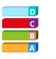 abc color tags vector image vector image