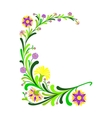 Abstract floral decoration vector image