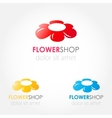 Abstract flower logo sign vector image vector image