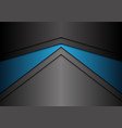 abstract metallic blue gray arrow direction vector image vector image