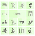 active icons vector image vector image