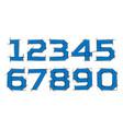 arabic numerals set 1-10 blue figures vector image vector image