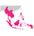 asean economic community aec map grey map with vector image vector image