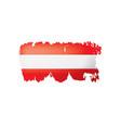 austria flag on a white vector image
