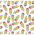 back to school pattern in cartoon style vector image