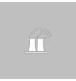 Bad factory computer symbol vector image vector image