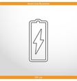 battery web flat icon vector image vector image