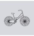 bicycle vehicle retro icon vector image vector image