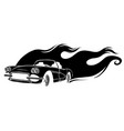 black gradiented car in white vector image vector image